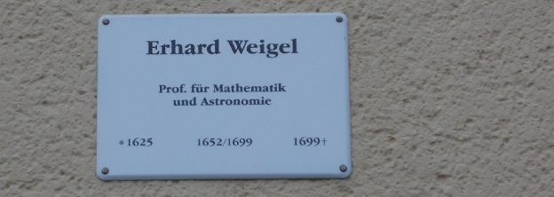 Erhard-Weigel-Gedenktafel am Kollegienhof in Jena